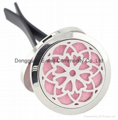 30mm Round Stainless Steel Essential OilDiffuser Car Perfume Locket Clip