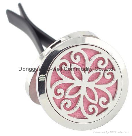 Stainlss Steel Teee Locket 30mm Oil Diffuser Perfume Clip 2
