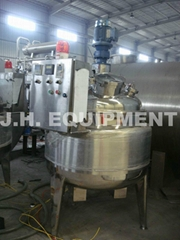 stainless steel reactor with conventional jacket,limpet coil jacket