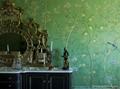 Hand painted silk wallpaper