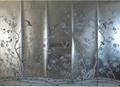 Silver foil wallpaper