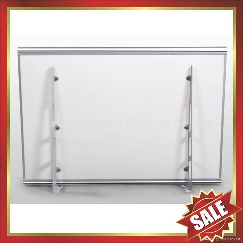 diy door window alu pc polycarbonate canopy Awning with Aluminium Alloy Bracket 2