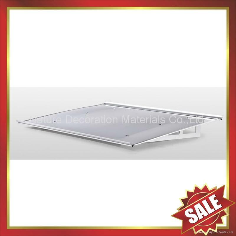 diy door window alu pc polycarbonate canopy Awning with Aluminium Alloy Bracket 3