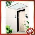 diy door window alu pc polycarbonate canopy Awning with Aluminium Alloy Bracket 4