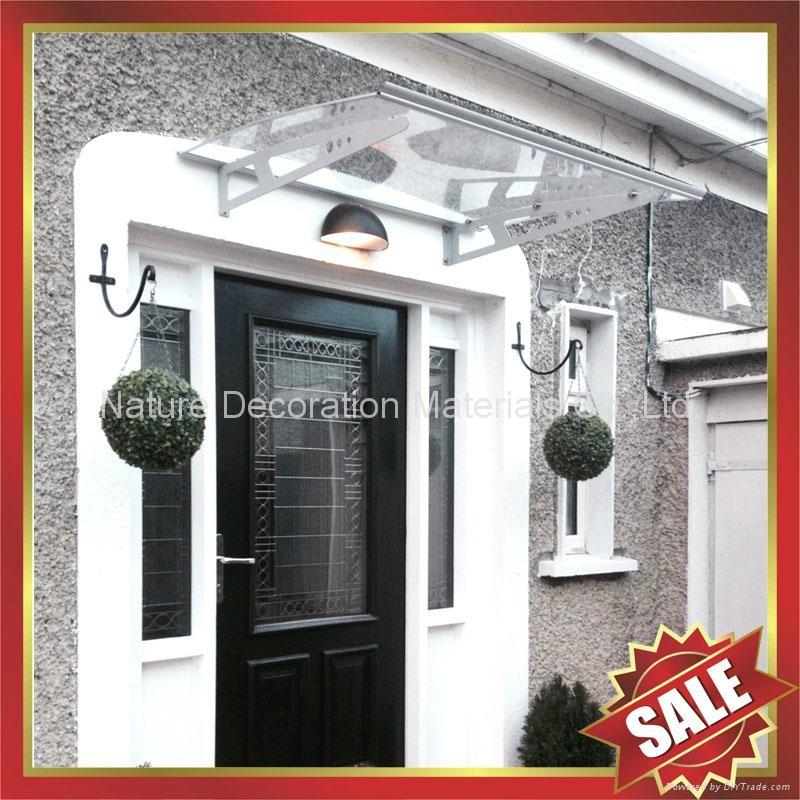 diy door window alu pc polycarbonate canopy Awning with Aluminium Alloy Bracket 1