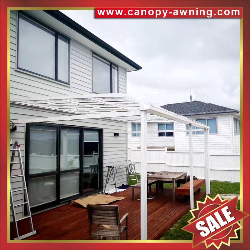 house patio gazebo door window pc polycarbonate aluminum canopy awning shelter 2