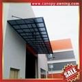 house patio gazebo door window pc polycarbonate aluminum canopy awning shelter 4