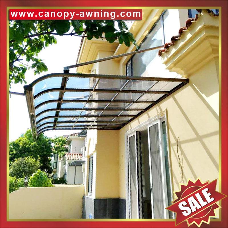 terrace patio balcony door polycarbonate aluminium awning canopy shelter cover