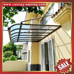 terrace patio balcony door polycarbonate aluminium awning canopy shelter cover