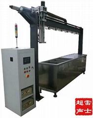 PLC程序控制六槽式超聲波清洗機
