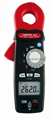 CENTER 262-0.1mA High Resolution Clamp Meter(AC/DC, TRMS)