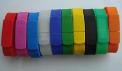 Promotional silicone wristbands USB Drive