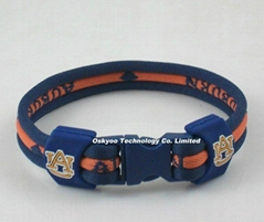 NCAA University Titanium Sports Power Energy Bracelet Tornado Necklace