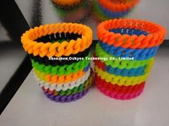 Fashion Promotional Wristbands Twist Silicone Bracelet