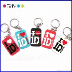 Customized Brand Name Dog Tag with Necklace and Keychain