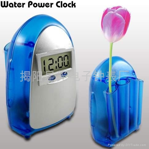 how to make a water powered clock