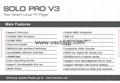 VU SOLO PRO V3 new DVB-S2 HD Linux Enigma2 751MHz MIPS Satellite Receiver suppo