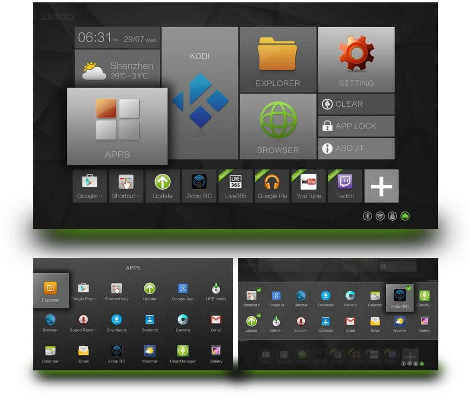 ZIDOO X6 Pro Android TV Box RK3368 Quad Core 1.5GHz 2G/16G 802.11AC Bluetooth 3D 5