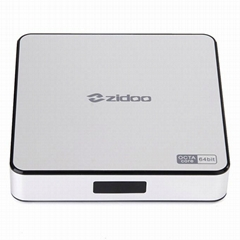 ZIDOO X6 Pro Android TV Box RK3368 Quad Core 1.5GHz 2G/16G 802.11AC Bluetooth 3D