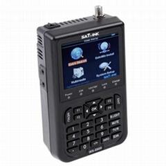 "SATLINK Digital Signal Satellite Meter WS-6908 3.5"" LCD Screen DVB-S FTA Data Sa"