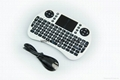 2.4G Wireless Mini Wifi QWERTY Keyboard Air mouse case Touchpad For Android TV