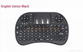 I8 Mini Wireless Gaming Keyboard Russian English Hebrew 2.4G Air Fly Mouse