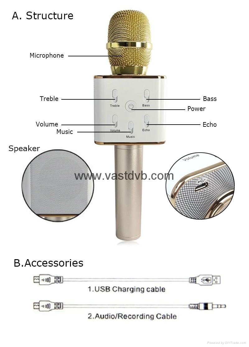 Wireless Microphone Pocket Party KTV Sing karaoke OK Wireless Bluetooth Q7 Micro 3