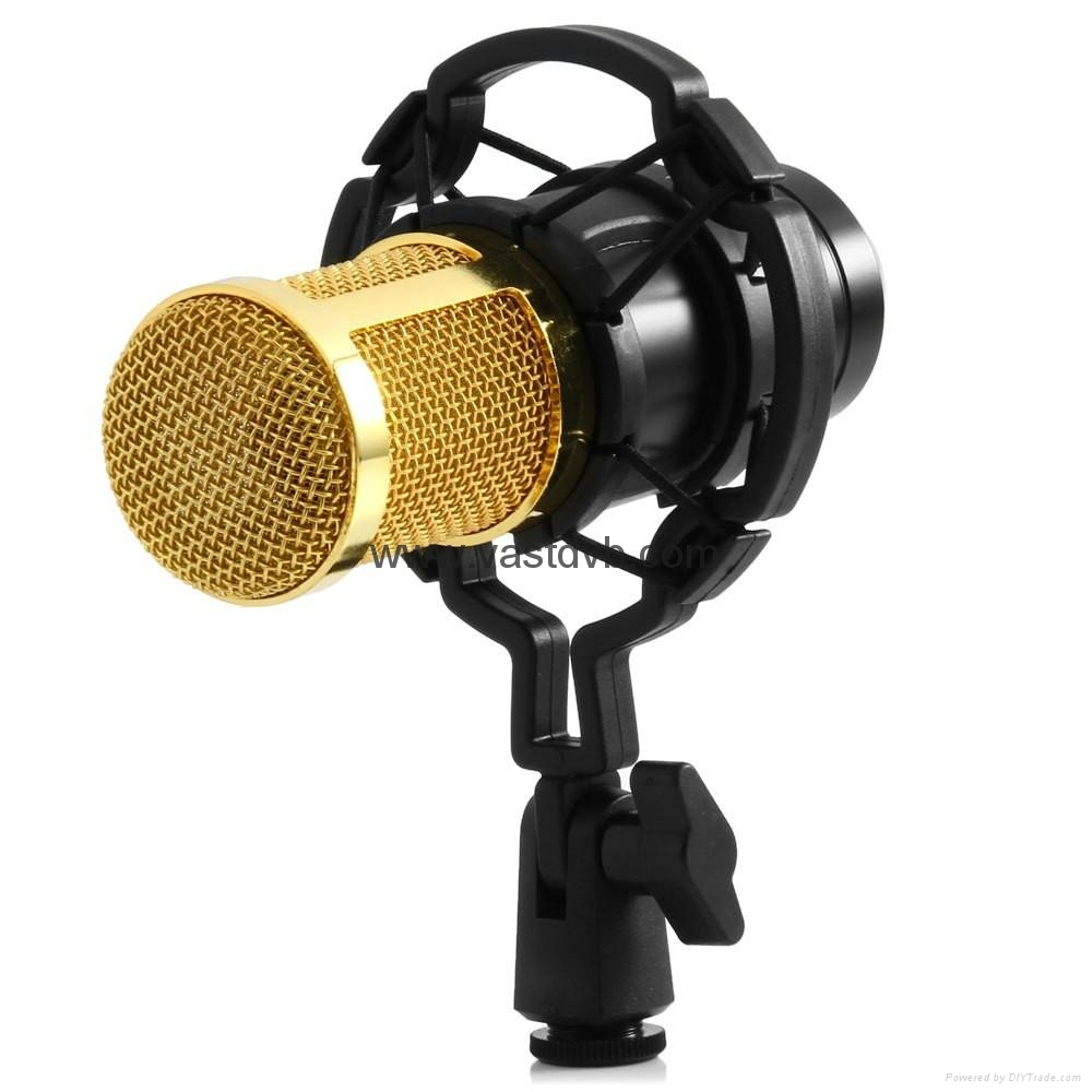 BM - 800 Dynamic Condenser Wired Microphone Mic Sound Studio for Recording Kit  4