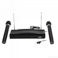 Dual Wireless Cordless Dual Channel Microphone & Wireless UT4 Type Mic For KTV