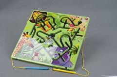 儿童益智玩具磁性動物迷宮早教啟蒙玩具