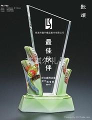 阿法瓷水晶獎杯