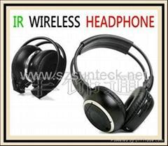 IR wireless earphone 2CH for headrest dvd/roof mount dvd player