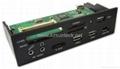 "5.25"" All-in-1 internal card reader/writer with USB HUB&ESATA&1394 ports  1"