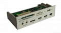 "5.25"" All-in-1 internal card reader/writer with USB HUB&ESATA&1394 ports  2"
