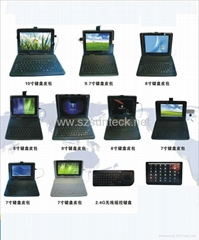leather case with keyboard for 8 inch tablet pc