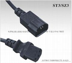 IEC60320品字尾插头电源线