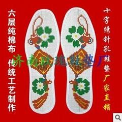 手工十字繡鞋墊