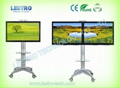 Rolling Flat Panel TV Stand L55T