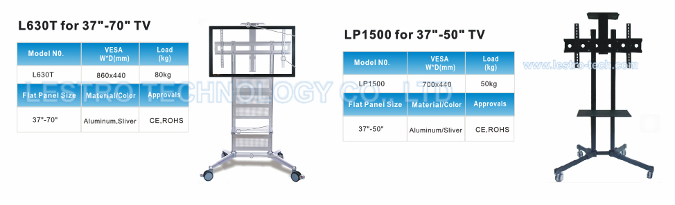 Rolling Flat Panel TV Stand L55T 5
