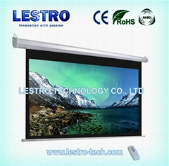 Lestro Convenient and Sleek Electric Projection Screen