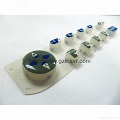 專業加工硅膠按鍵高透明水晶滴膠