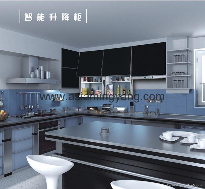 Automatic lifting kitchen cupboard 2