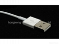 usb data cable for iphone 5 , white usb cable