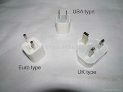 Wholesale iphone 5/4/4s adpter plug USB UK/Euro/USA