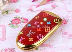 LV V8 Luxury Phone Dual Band Dual Sim Bluetooth Lady Flip Mobile Cheap Phone