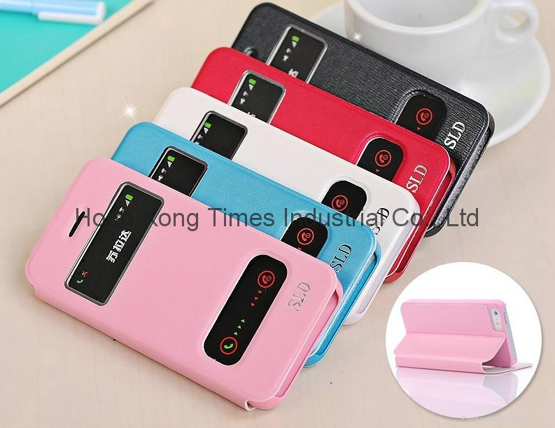 Apple iphone 5s phone case, i5s PU windonw protect case
