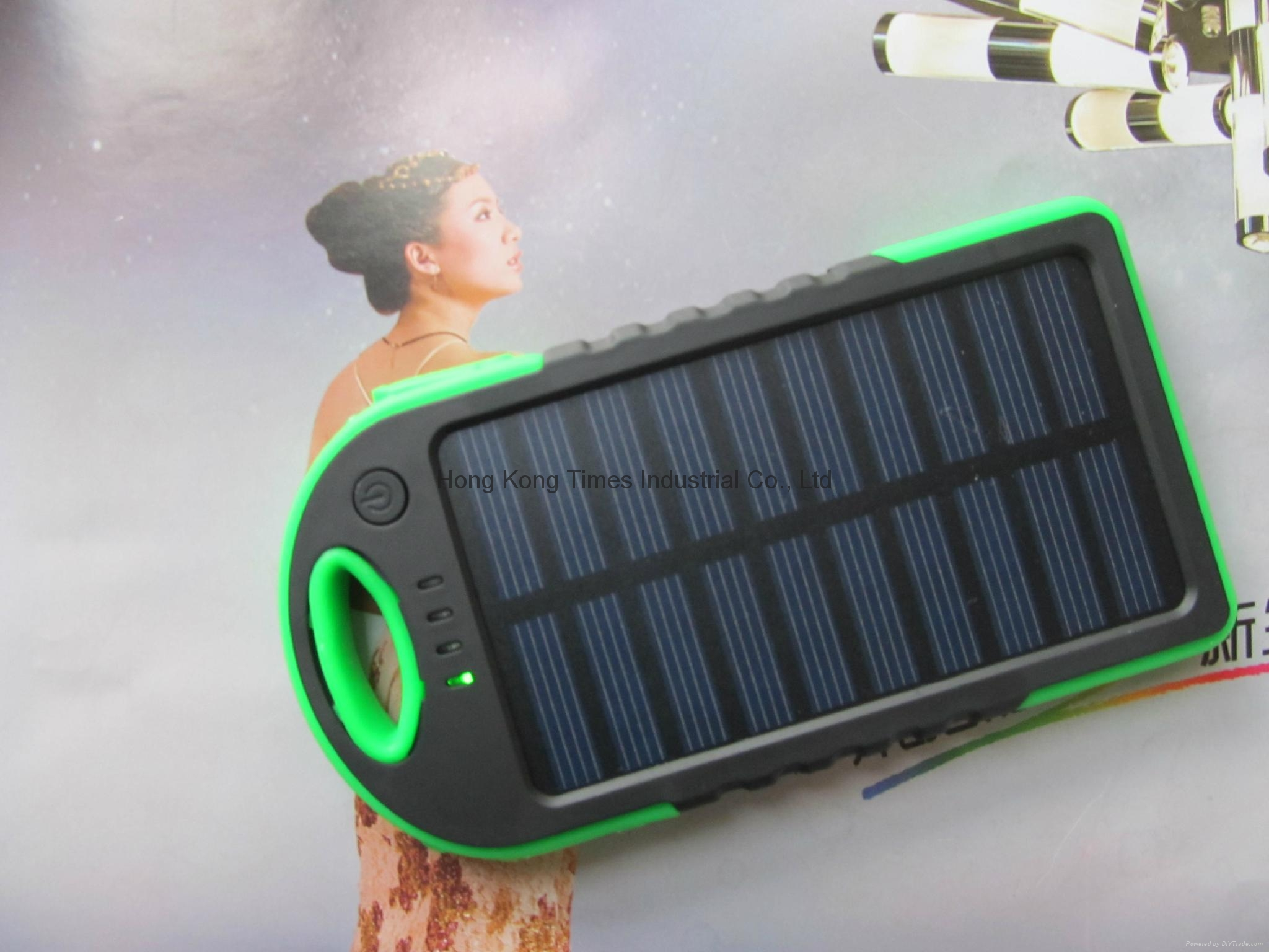 USB Solar Charger Power Bank Travel External Battery charger for samsung iphone 1