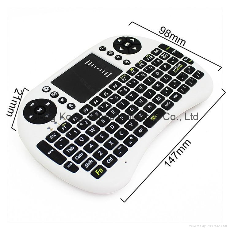 Rii I8 Fly Air Mouse Mini Wireless Handheld Keyboard 2.4GHz Touchpad Remote Cont 6