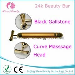 Electric New Design 24k Gold Massage Bar Vibration Beauty Bar with Magneticstone