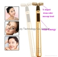 Mini Solar Energy Y Shape Face Slimming Beauty Bar 24K Gold For Home Use